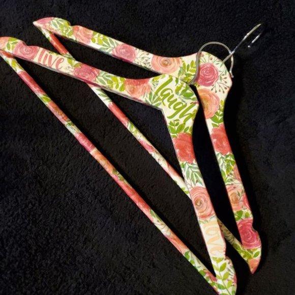 Hand Made Custom Decoupaged Wood Hangers - NEW